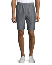 Vince Linen Cotton Pull On Shorts Gray
