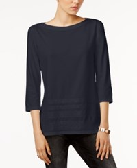 Tommy Hilfiger Esme Sequin Detail Top Only At Macy's Core Navy