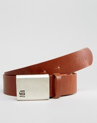 G Star Barren Leather Belt In Tan Tan