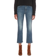 Closed Flared Cropped High Rise Jeans Easy Mid Blue Wash