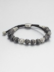 John Hardy Black Tourmaline Sterling Silver And Black Bronze Bead Bracelet