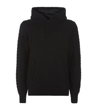 Dolce And Gabbana Cable Knit Wool Hoodie Male