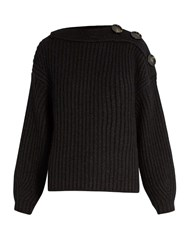 Acne Studios Holden Ribbed Knit Wool And Mohair Blend Sweater Black