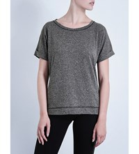 Sweaty Betty Warm Up Over T Shirt Black Marl