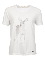 Barbour Belling Deer Print T Shirt Snow