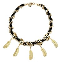 Matthew Williamson Women's Rope Feather Necklace Gold