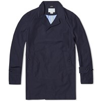 Nanamica Gore Tex Soutien Collar Coat Blue