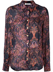Balmain Pierre Striped Paisley Shirt Multicolour