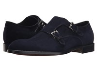 Gravati Velukid Plain Toe Double Monk Strap Navy Men's Monkstrap Shoes