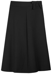 Red Valentino Black Bow Embellished Jersey Skirt