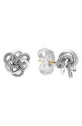 Women's Lagos 'Love Knot' Sterling Silver Stud Earrings