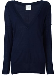 Forte Forte V Neck Jumper Blue