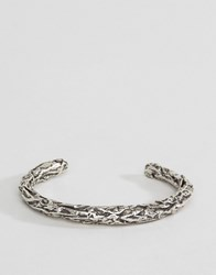 Diesel A Crush Bangle Bracelet In Silver Silver