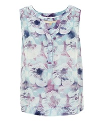 Nougat London Salma Print Silk Blouse Ocean