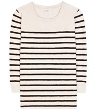 Closed Striped Cotton Sweater Neutrals