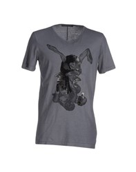 Messagerie Topwear T Shirts Men Grey