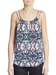 Rory Beca Nell Silk Strappy Top Blue Multi