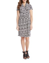 Karen Kane Short Sleeve Cascade Wrap Dress Print