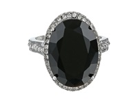 Guess 58869 21 Jet Crystals Silver Ring Black