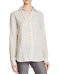 Birds Of Paradis Classic Plaid Shirt Grey Antique White Check