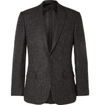 Kilgour Grey Slim Fit Flannel Blazer Gray