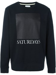Saturdays Surf Nyc Logo Print Sweatshirt Black