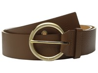 Michael Michael Kors 50Mm Pebble Leather Belt With Grommet Details And 7 Holes Luggage Women's Belts Brown