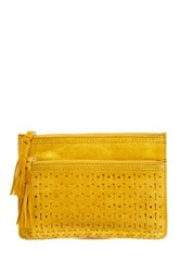 Shiraleah Emma Suede Zip Pouch Yellow