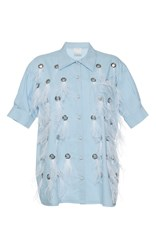 Huishan Zhang Feather Dalia Shirt Blue