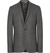 Paul Smith Ps By Grey Slim Fit Melange Wool Blazer Dark Gray