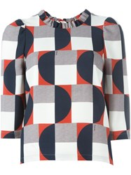 L'autre Chose Geometric Print Blouse Multicolour