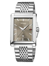 Gucci G Timeless Collection Stainless Steel Rectangle Watch