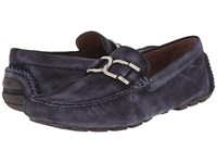 Donald J Pliner Derrik Denim Men's Slip On Dress Shoes Blue