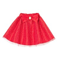 Cutie And Cool Carly Glitter Taffeta Skirt Red