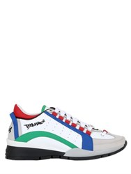 Dsquared 30Mm Color Blocked Leather Sneakers
