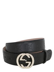 Gucci 37Mm Gg Embossed Leather Belt