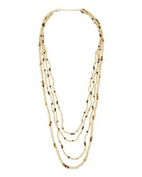 Panacea Multi Strand Howlite And Jasper Beaded Necklace Ivory