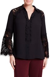Persona By Marina Rinaldi Plus Size Women's Febbraio Lace Bell Sleeve Shirt