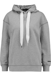 Marc By Marc Jacobs Cotton Jersey Hooded Sweatshirt Gray