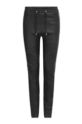 Balmain Leather Sweatpants Black