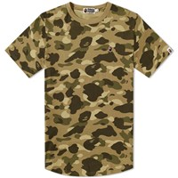A Bathing Ape Colour Camo Long Length Tee Brown
