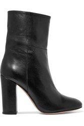 Iris And Ink Leather Ankle Boots Black