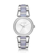 Michael Kors Delray Pave Silver Tone And Acetate Watch