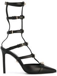 Versace 'Medusa Head' Strap Pumps Black