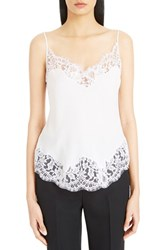 Women's Givenchy Scalloped Lace Trim Silk Camisole Optic White