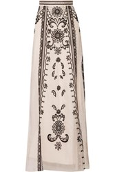 Temperley London Delphia Embroidered Silk Organza Maxi Skirt Pastel Pink