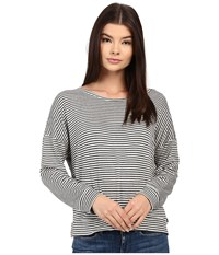 Obey Riley Long Sleeve Charcoal Stripe Women's Long Sleeve Pullover Gray