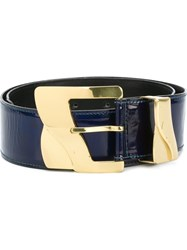 Versace Vintage Wide Belt Blue