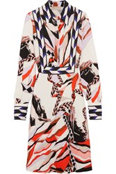 Emilio Pucci Printed Crepe Dress Red