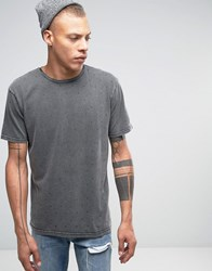 Quiksilver Yard Sale T Shirt In Acid Wash Grey